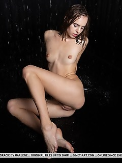 Gracie gracie displays her wet, petite body and yummy pussy in front of the camera.