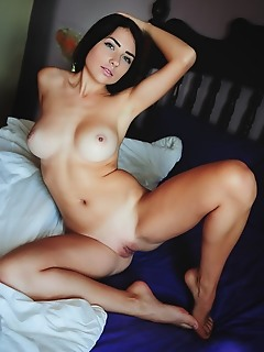 Niemira niemira sensually strips her sexy lingerie as she bares her delectable pussy.