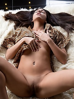 Cira nerri with a teasing smile on her pretty face, cira nerri slowly reveals her naked body and tempting assets