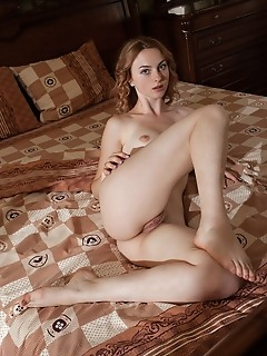 Jamie joi jamie joi sensually strips in the bedroom baring her delectable assets.