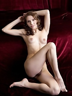 Erotic visuals of young and fresh maiden baring lush, untouched assets.