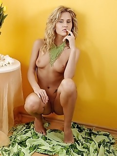 Sexy blonde in the mood for seduction.