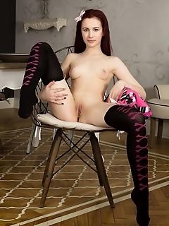 Sweet babe stripping