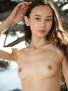 Djessy djessy loves showing off her lean and slender body, and cute, unshaved snatch