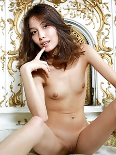 Anna aki anna aki flaunts her slim body with small tits and smooth pussy in front of the camera.