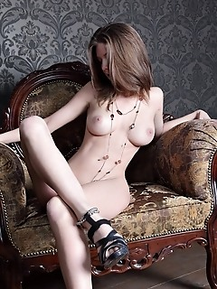 Elegant and refined model with charming personality and supple assets.