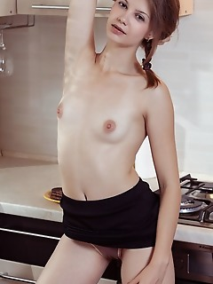 Emma sweet emma sweet portrays a corporate woman coming home from work to prepare a sumptuous meal as she shows off her delectable assets