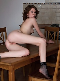 Tease show in the kitchen
