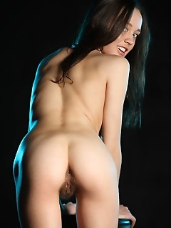 Ulia ulia takes off her blouse and panty and proudly showcases her delightfully round breasts, tights ass, and unshaven bush