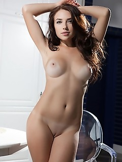 Niemira niemira displays her smoking hot body as she bares her sexy, black stockings.
