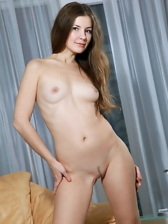 Vivian blonde cutie with sweet smile and chaming personality, vivian shows off her nubile body and pink assets
