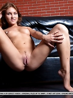 Intimate closeup of cristina's delectable open labia and stunning toned legs.