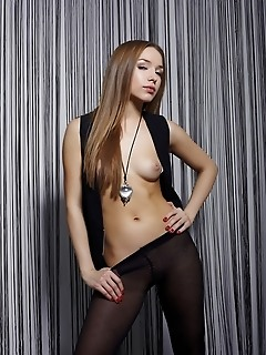 Body tight pantyhose that traces darina's womanly curves perfectly.