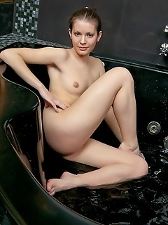 A bathing cutie with immaculately clean and delectable body.