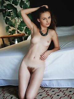 Sofi shane sweet-smiling sofi shane spreads her legs and proudly flaunts her fuzzy, unshaved bush