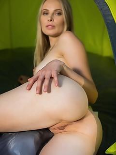 Maria rubio maria rubio shows off her smoking hot body as she strips in the woods.