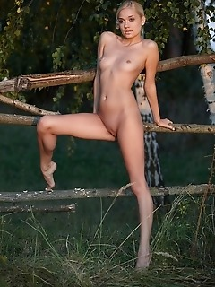 Blonde cutie with nubile body and legs that are to die for.