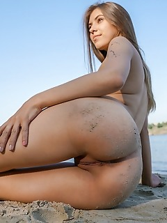 Nude at the sea shore