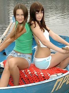 Teens erotic amour angels style posing outdoors
