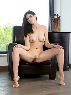 Amelie belain amelia belain showcases her round cuppable breasts with pink nipples and sexy hips
