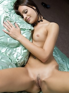Small but sweet treats from a stunning petite brunette.