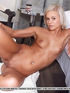 Sweet but sexy blonde with tight, nubile body.