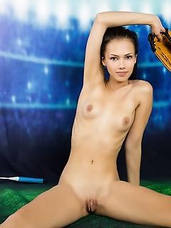 Hot brunette beauty