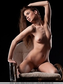 Sensual and erotic model in raunchy, provocative poses.