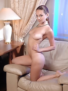 Hot chick stripping