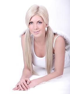 Sweet busty blonde