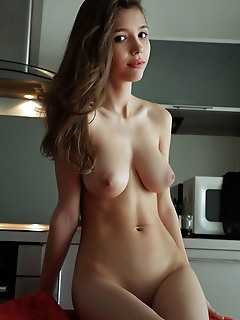 Mila azul alluring blonde tiffany tatum displays her delectable pussy on the bed.
