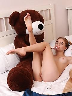 A playful girl