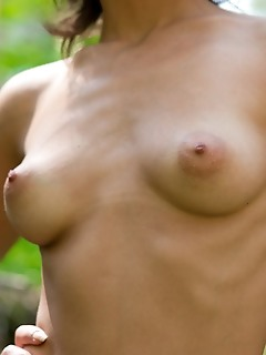 Nude beauty in the forest