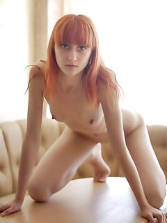 Stirring bald real erotic nude babe Red