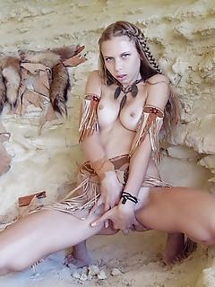 Extra busty native girl