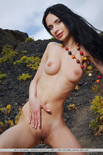 Refined brunette with elegant beauty, perky pink nipples and smooth, pink labia.